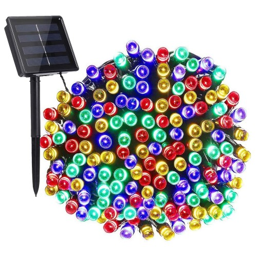 Solar 200 LED String Lights Waterproof Multi-Color Garden Party Decor Lamp
