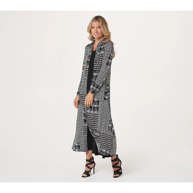 Attitudes by Renee Regular Duster & Sleeveless Maxi Dress Set, M,