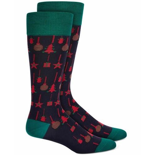Alfani Men's Ornaments Socks Black Size Regular
