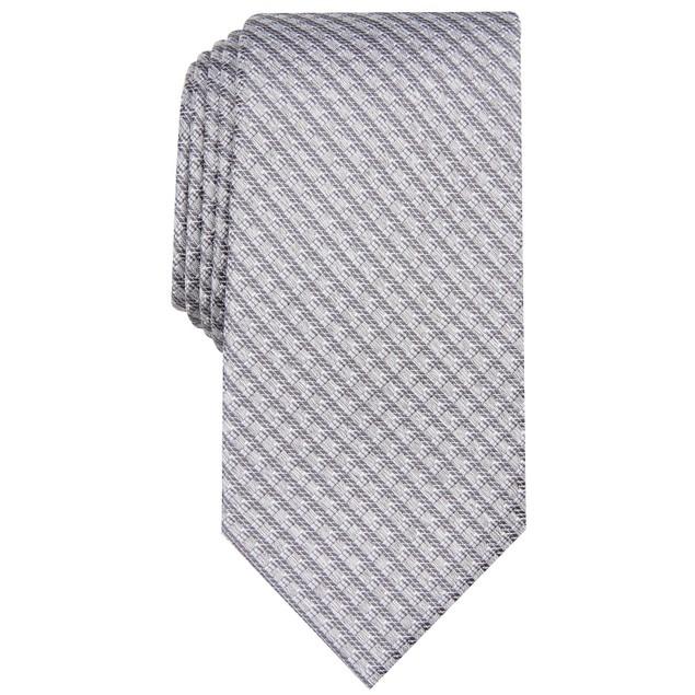 Perry Ellis Men's Bluefield Classic Grid Tie Gray Size Regular