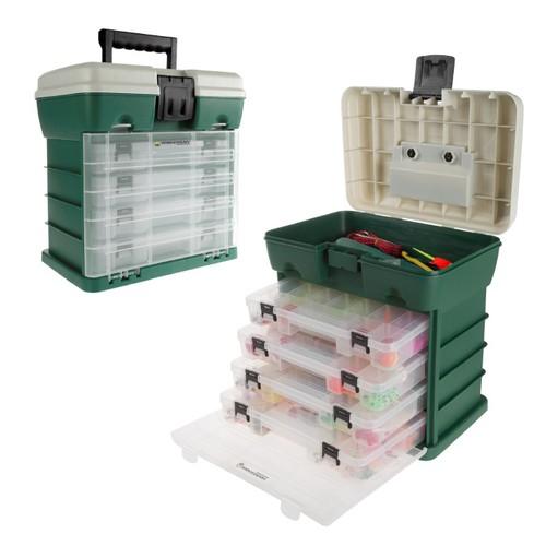 Storage and Tool Box-Durable Organizer Utility Box-4 Drawers