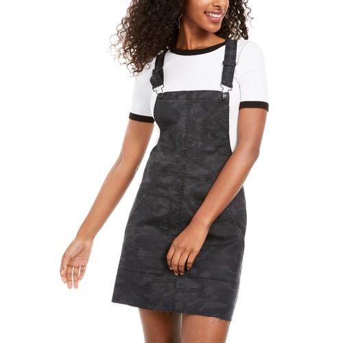 Vanilla Star Juniors Women's Printed Raw-Hem Camo Skirtall Gray Size 5