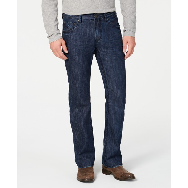 INC International Concepts Men's Modern Bootcut Jeans Blue Size 30X30