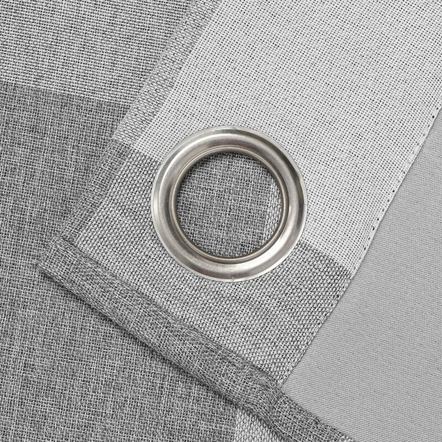 Plaid Blackout Thermal Grommet Window Curtains (Set of 2)