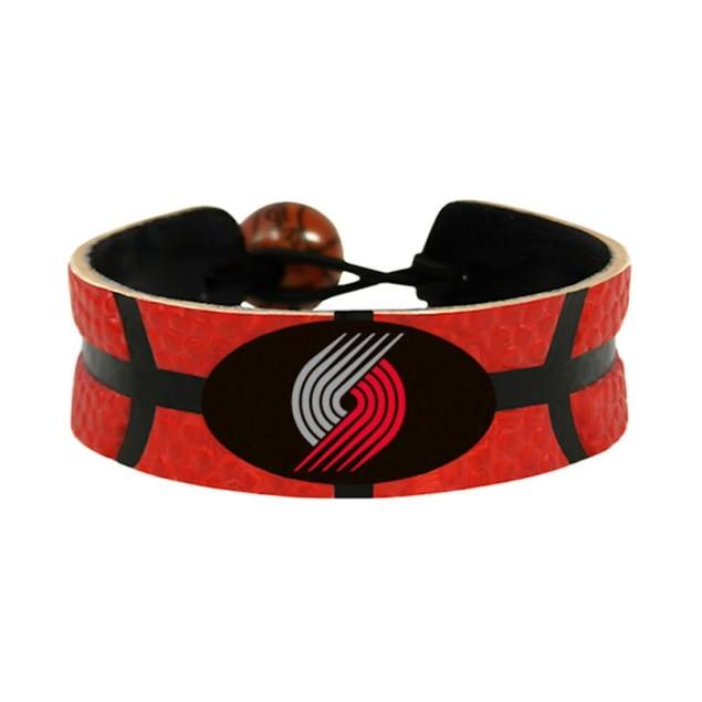 Portland TrailBlazers Team Color NBA Gamewear Leather Basketball Bracelet