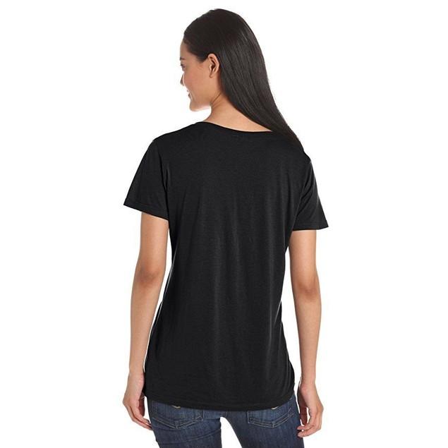 Splendid Women's Short Sleeve V-Neck,Black.  SZ ,Large