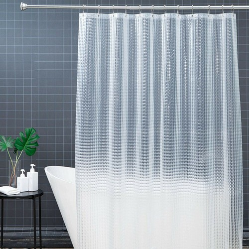 72IN EVA SHOWER CLEAR CURTAIN LINER NON TOXIC RUST PROOF GROMMETS HOOKS