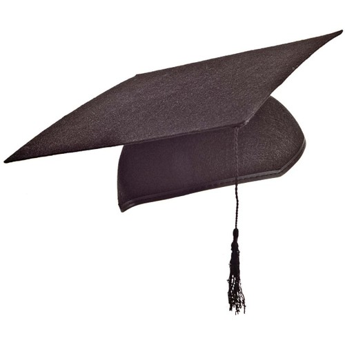 Black Graduation Cap With Tassel Costume Grad Hat Mortar Board Mortarboard
