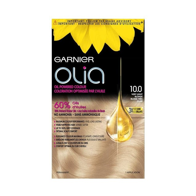Garnier Olia Ammonia-Free Hair Color, 10.0 Very Light Blonde Natural Oil P