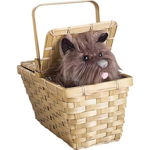 Toto in the Basket Deluxe Wizard of Oz Dorothy Prop Costume Halloween