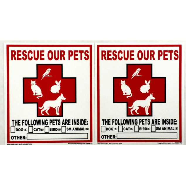 Rescue Our Pets Window Decal 2 Per Pack