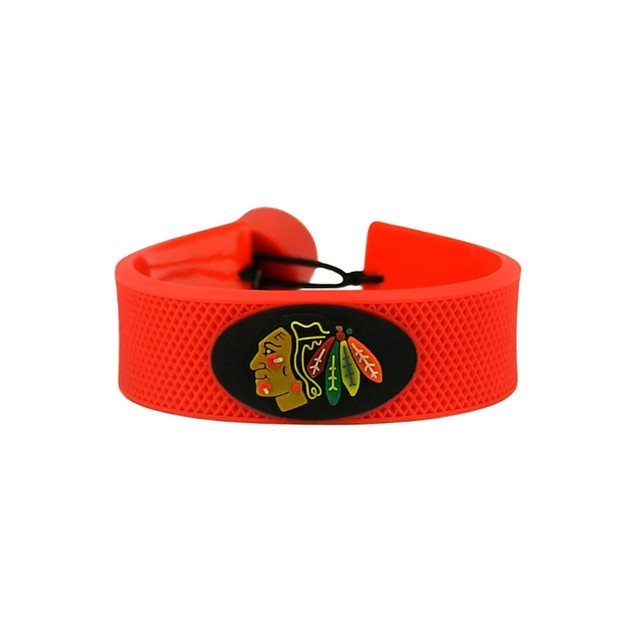 Chicago Blackhawks Team Color NHL Gamewear Leather Hockey Bracelet