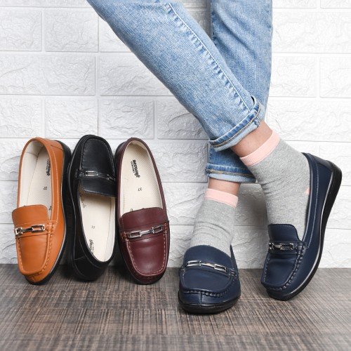 AEROSOFT Stepis Women's Comfortable Summer Loafers Casual Slip-on Shoes
