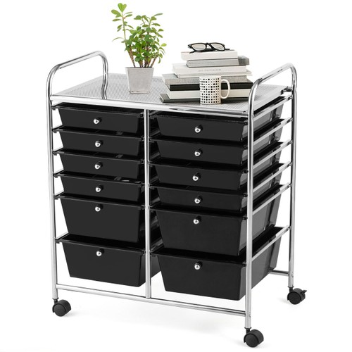 Costway 12 Drawers Rolling Cart