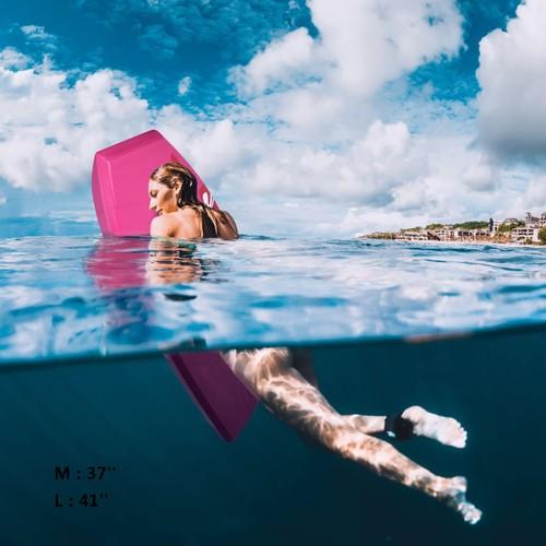 Goplus 41''/37'' Super Lightweight Bodyboard Surfing W/Leash EPS Core Board