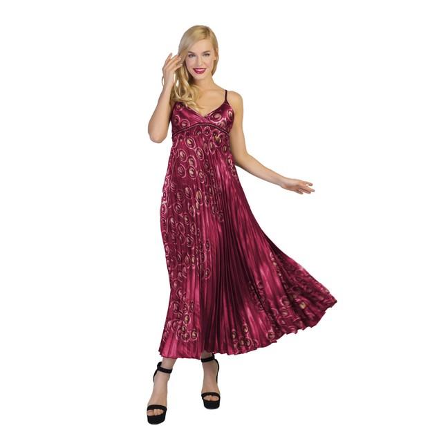 Women's ankle length sleeveless flowy maxi dress