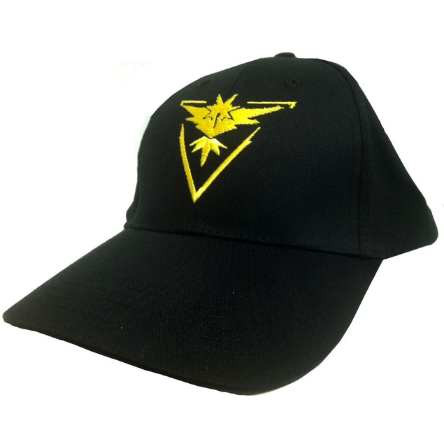 Team Instinct Black Hat With Yellow Logo