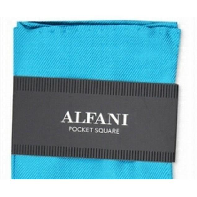 Alfani Men's Solid Twill Silk Pocket Square Blue Size Regular