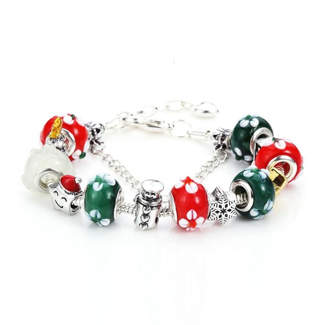 Novadab Christmas Symbols Charms Bracelet For Women