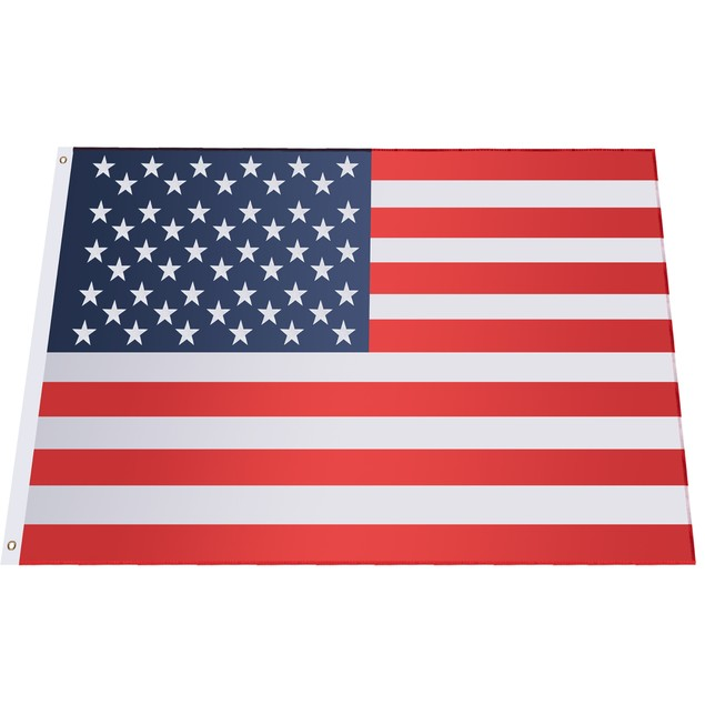 Costway 4'x6' American Flag Patriotic US Flag Double Stitching Steel Gromme
