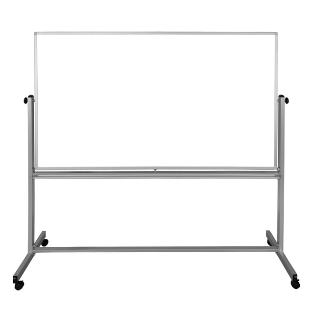 """Luxor Mobile 72""""W x 48""""H Dry Erase Double-Sided Magnetic Whiteboard"""