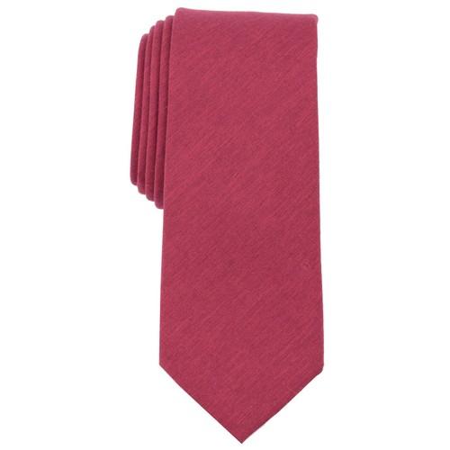 Bar III Men's Beach Solid Skinny Tie Red Size Regular