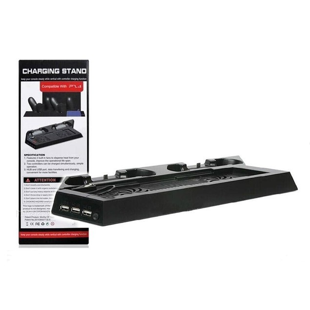 Brand New Dual Cooling Fan Charging Dock Station for PS4 with 3 Por