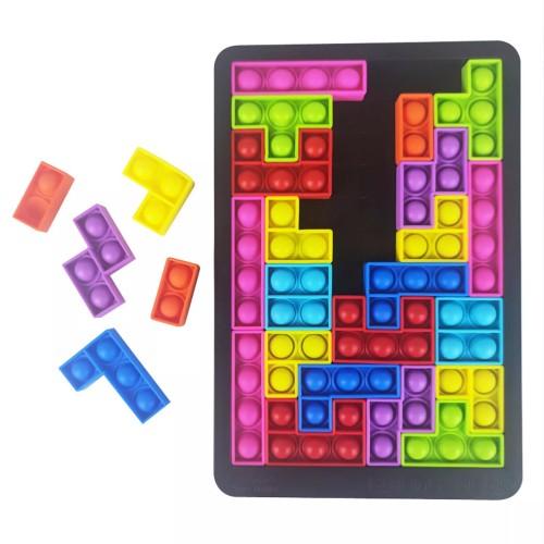 Push POP Anti-Stress Tetris Game