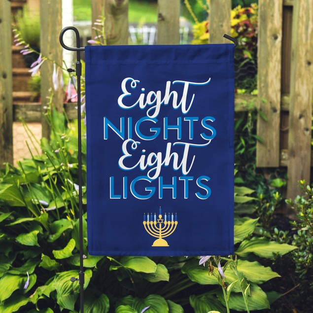Eight Nights Eight Lights Garden Flag