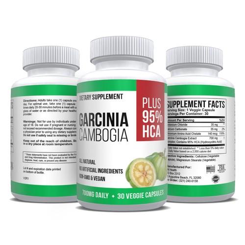 Pure Garcinia Extract Max Strength 95% HCA Weight Loss Fat Blocker 30 Caps