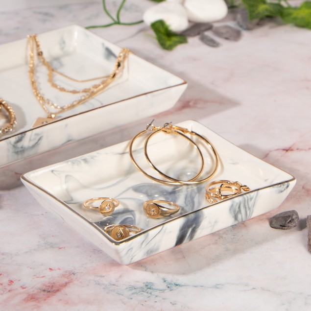 Ceramic Marble Jewellery Dishes - Set of 2 | MandW