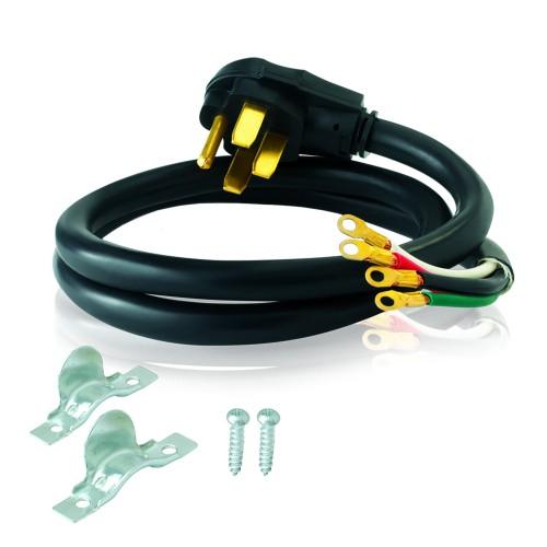 Eastman Electric Electrical Range Cord, 40 Amp Angled Range Cord, 4 Ft,