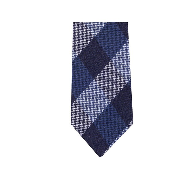 Tommy Hilfiger Men's Slim Textured Check Tie Gray Size Regular