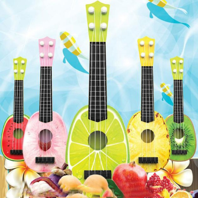 Children Learn Guitar Ukulele Mini Fruit Play Musical Instruments Toys