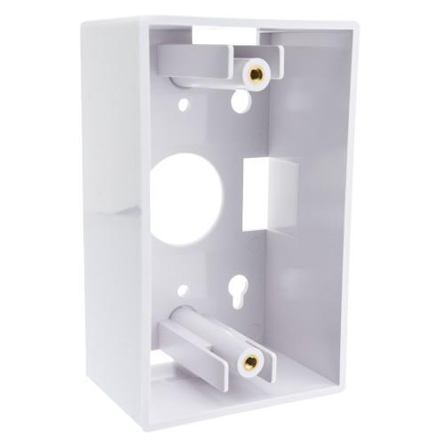 Single Gang Surface Mount Box, White