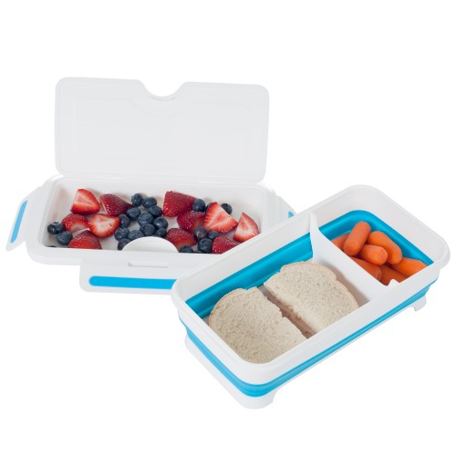 Classic Cuisine Rectangular Expandable Lunch Box with Dividers