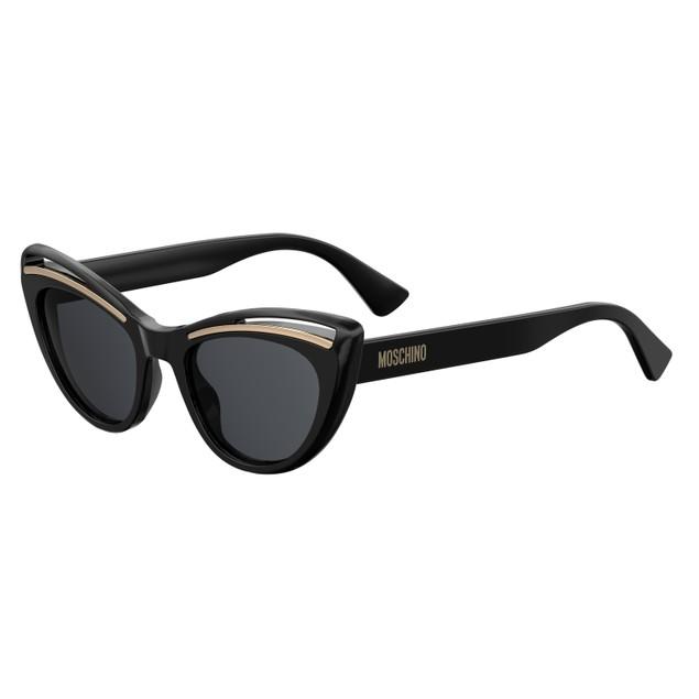 Moschino Women Sunglasses MOS036S 0807 Black Cat Eye/Butterfly