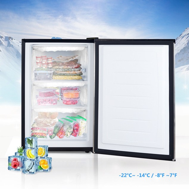 STAKOL Stainless Steel 3 cu.ft. Compact Upright Freezer