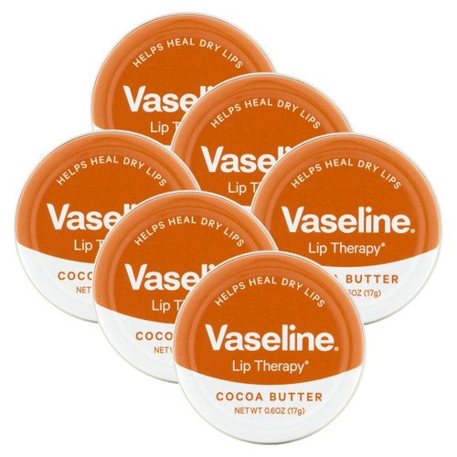 Vaseline Lip Therapy, Soothes Dry Lips, Cocoa Butter, 20g (Pack of 6)
