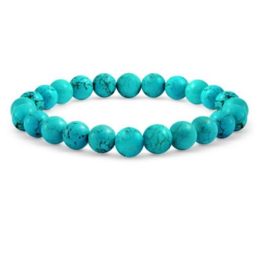 Genuine Turquoise Adjustable Ball Bead Bracelet