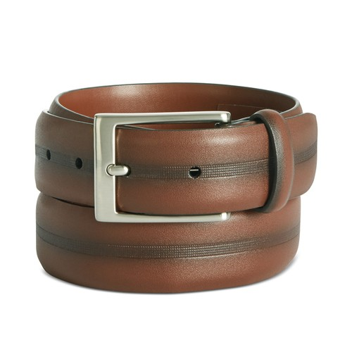 Perry Ellis Men's Colorblocked Belt Brown Size 40