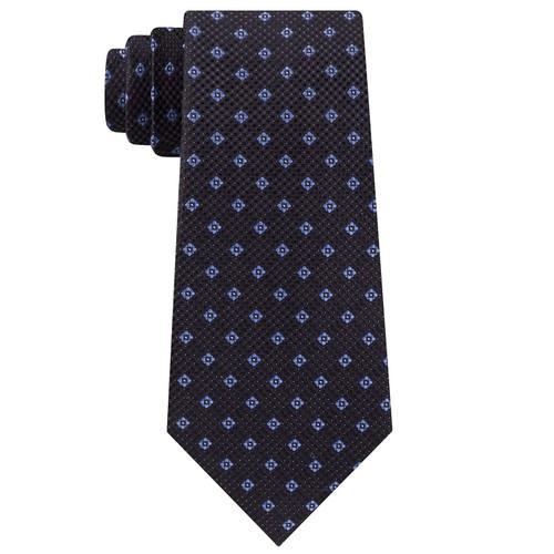 Michael Kors Men's Classic Textured Neat Tie Black Size Regular