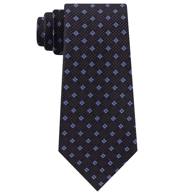 Michael Kors Men's Classic Textured Neat Tie Black Size Regular