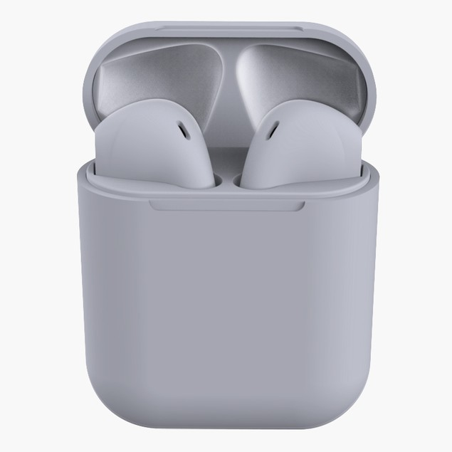 Matte Rubber Wireless Earbuds and Charging Case for iPhone and Android