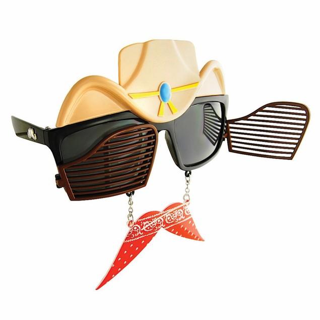 Cowboy Sunstaches Moustache Sunglasses Shades Costume Accessory Western