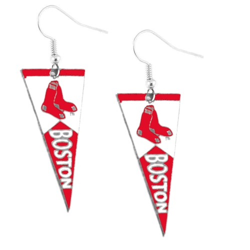 Boston Red Sox Pennant Earring