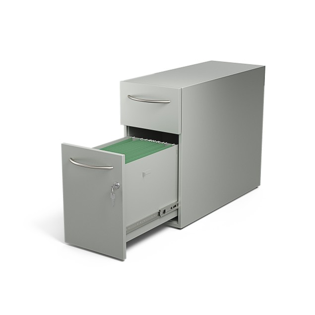 Direction Modern Slim 2-Drawer File Cabinet