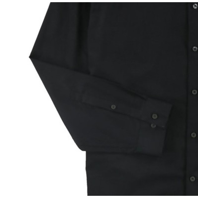 Calvin Klein Men's Slim-Fit Stretch Solid Shirt Black Size Small