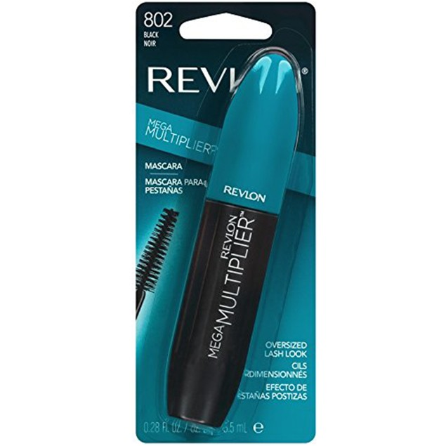 Revlon Mega Multiplier Mascara, Black, 0.28 Fluid Ounce