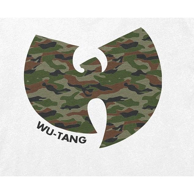 Fea Men's Camo-Print Wu-Tang Clan Graphic T-Shirt White Size Medium